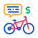Payment Using Bicycle Icon