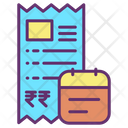 Payments Date Invoice Date Bill Date Icon