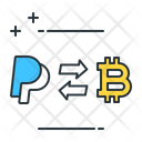 Paypal to bitcoin Icon