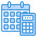 Payroll Calculator Calendar Icon