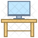 Pc on desk Icon