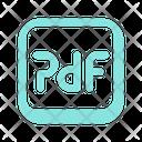 Pdf Format File Icon