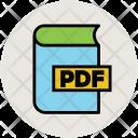 Pdf Book Education Icon