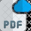Pdf Cloud File Cloud File File Icon