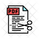 Cutting Pdf File Icon