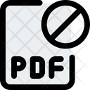 Pdf File Banned Key Banned File Banned Icon