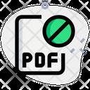 Pdf File Banned Icon