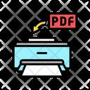 Printing Pdf File Icon