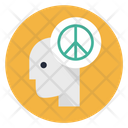 Peace Peaceful Mind Head Icon