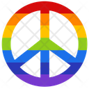 Peace Badge Peace Sign Icon