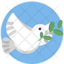 Peace Bird Mockup Icon