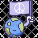 Peace World Flag Icon