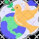 Peace Voting Sign Dove Icon