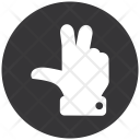 Peace Finger Gesture Icon