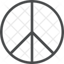 Hippie Peace Symbol Hippie Sign Icon