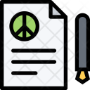 Peace Agreement Army Icon