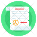Peace Deal Peace Agreement Peace Contract Icon