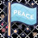 Peace Flag Banner Emblem Icon
