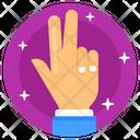 Peace Finger Peace Gesture Peace Sign Icon