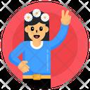 Peace Female Peace Girl Girl Peace Gesture Icon