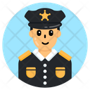 Police Officer Policeman Patrolman Icon