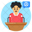 Peace Lecture Peace Speech Oration Icon