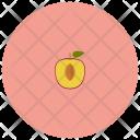 Peach Half Fruit Icon