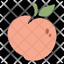 Peach Fruit Healthy Icon