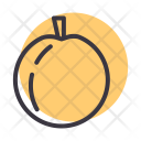 Peach Fruit Healthy Icon
