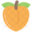 Peach Food Eating Icon