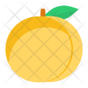 Peach Green Fruit Icon