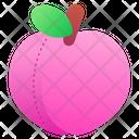 Peach Vegan Fruit Icon
