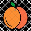 Peach Sweet Fruit Icon