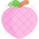 Peach Fruit Healthy Food Icon