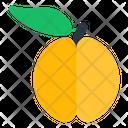 Peach Fruit Edible Icon
