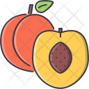 Peach Fruit Cooking Icon