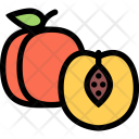 Peach Vegetables Fruit Icon
