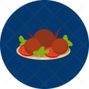 Peaches Fruits Meal Icon
