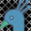 Peacock Peafowl Bird Icon