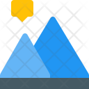 Peak Mountain Diagram Icon