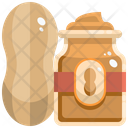 Peanut Butter Butter Groundnut Icon