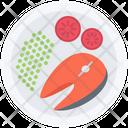 Peas Fish Tomato Icon