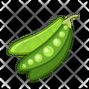 Peas Vegetables Vegetarian Icon