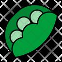 Peas Pod Vegetable Icon