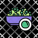 Peas Basket Peas Groats Icon