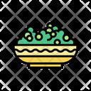 Plate Peas Color Icon
