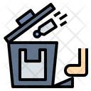 Touchless Recycle Trash Icon