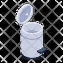 Pedal Bin Waste Bin Recycle Trash Icon
