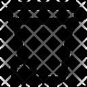Pedal Bin Wastebin Dustbin Icon
