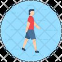Pedestrian Zebra Crossing Walker Icon